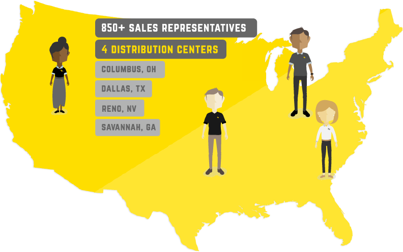 Four Distribution Centers